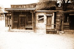 Wild west-vintage USA sheriff house Royalty Free Stock Photo