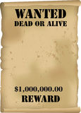 Wild West Wanted Poster Vector Stock Image