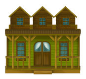 Wild west - western - illustration for the children Stock Image