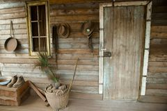 Wild West Wooden House. Rustic Wild West Wooden House Royalty Free Stock Photo