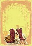 Wild western background Stock Image