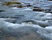 Wild White the river flows Stock Photo