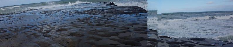 Wild wild west white wash waves. Waves crashing on rocks Royalty Free Stock Image