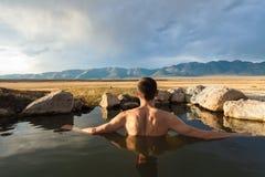 Wild Willy`s Hot Spring Near Mammoth Lakes, California, USA Stock Photography
