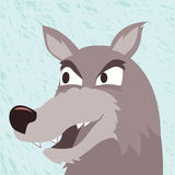 Wild wolf cartoon Vector Royalty Free Stock Image
