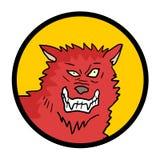 Wild wolf icon Stock Photos
