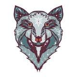 Wild wolf tattoo Stock Photo