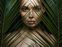 Free Wild Woman In Jungle. Beautiful Girl In Palms. Beautiful Tanned Woman Royalty Free Stock Photos - 175056178