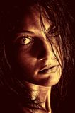 Wild woman portrait Stock Images