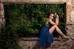 Wild woman stock photography