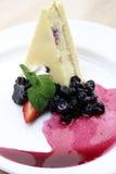 Wildberry Käsekuchen Stockfotos