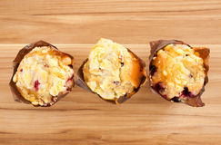 Wildberry Muffins Royalty Free Stock Images