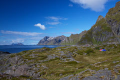 Wildcamping in Norway Stock Image