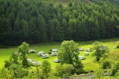 Wildcamping in Schottland lizenzfreie stockbilder