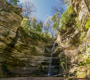 Wildcat Canyon. In Starved Rock, Illinois as the sun shines Stock Images