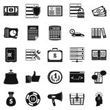 Wildcatter icons set, simple style Royalty Free Stock Photo