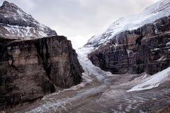 Wilde aard in Rocky Mountains, Duidelijk van zes gletsjers Stock Afbeelding