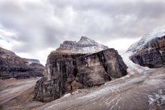 Wilde aard in Rocky Mountains, Duidelijk van zes gletsjers royalty-vrije stock fotografie