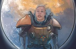 Wilde astronaut Royalty-vrije Stock Afbeeldingen