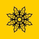Wilde Bloem Stevig Logo Design Stock Foto