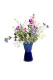 Wilde bloemen in vaas Stock Foto
