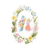 Wilde bloemen voor mum royalty-vrije illustratie