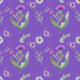 Wilde bloemenachtergrond royalty-vrije illustratie