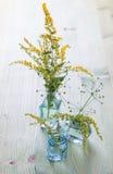 Wilde Blumen in einem Blumenstrauß Stockbild