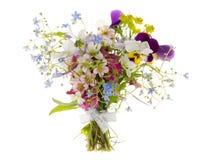Wilde Blumen im Blumenstrauß Stockbild