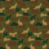 Wilde bosdieren royalty-vrije illustratie