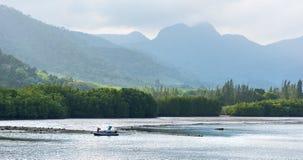 Wilde de kustmening van het oosten van het Koh Chang-eiland, Thailand Stock Foto