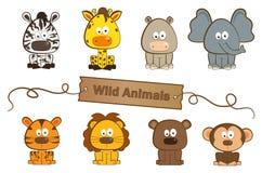 Wilde dieren stock illustratie