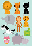 Wilde dieren /illustration Stock Afbeelding