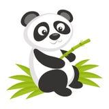 Wilde dieren Panda Bear Wildlife Vector stock illustratie