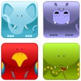 Wilde dieren - pictogramreeks 1 Stock Afbeeldingen