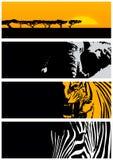 Wilde dierlijke banner Stock Afbeeldingen