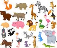 Wilde dierlijke beeldverhaalinzameling stock illustratie