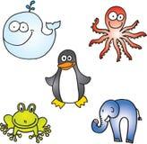 Wilde dierlijke reeks stock illustratie