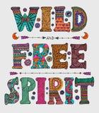 Wilde en Vrije Geest stock illustratie