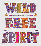 Wilde en Vrije Geest royalty-vrije illustratie