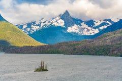 Wilde Gans-Insel, Gletscher-Nationalpark lizenzfreie stockfotografie