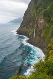 Wilde het noordenkust van madera - Ponta do Poiso Stock Foto's