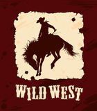 Wilde het westenachtergrond royalty-vrije illustratie