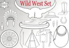 Wilde het westenreeks Royalty-vrije Stock Afbeeldingen