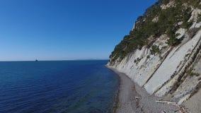 Wilde Küste von Schwarzem Meer, Russland, Vogelperspektive stock footage