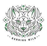 Wilde kat vector illustratie