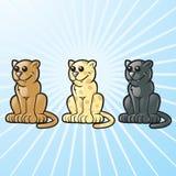 Wilde Katten Royalty-vrije Stock Afbeelding