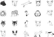 Wilde katten en vossen vector illustratie