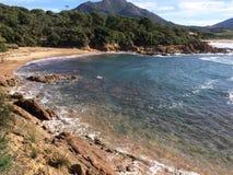 Wilde kust van Corsica Royalty-vrije Stock Foto's