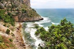 Wilde Landschaft in Gaeta, Italien Stockbild